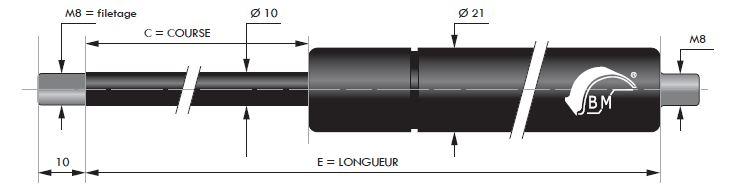 0,4 x 3,6 x 10,5 etz251//301 Ressort de compression pour BVF-regulierschraube
