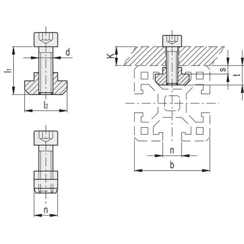 Dimensioned drawing