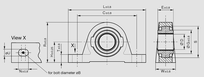 GGB - Free CAD models - PB-Exalign Pedestal Bearing - TraceParts