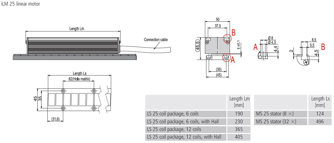 Dimensional drawing iLM25