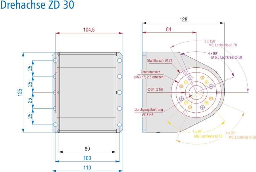 Masszeichnung ZD 30
