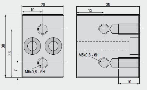 Dimensional drawing block