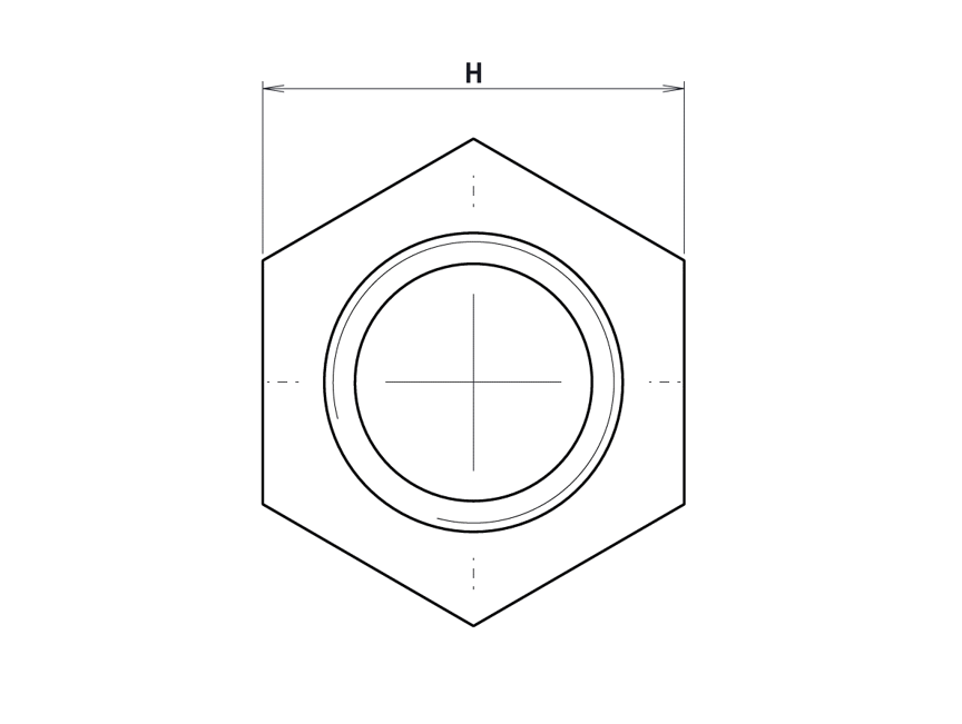 Insert à Surmouler Hexagonal - Type B: Borgne
