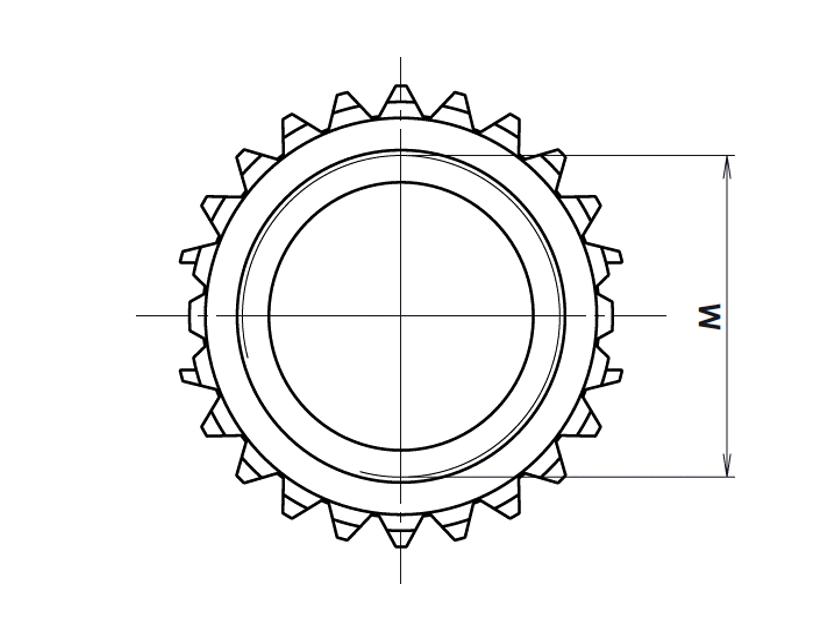 Type C: court avec une couronne d'ancrage