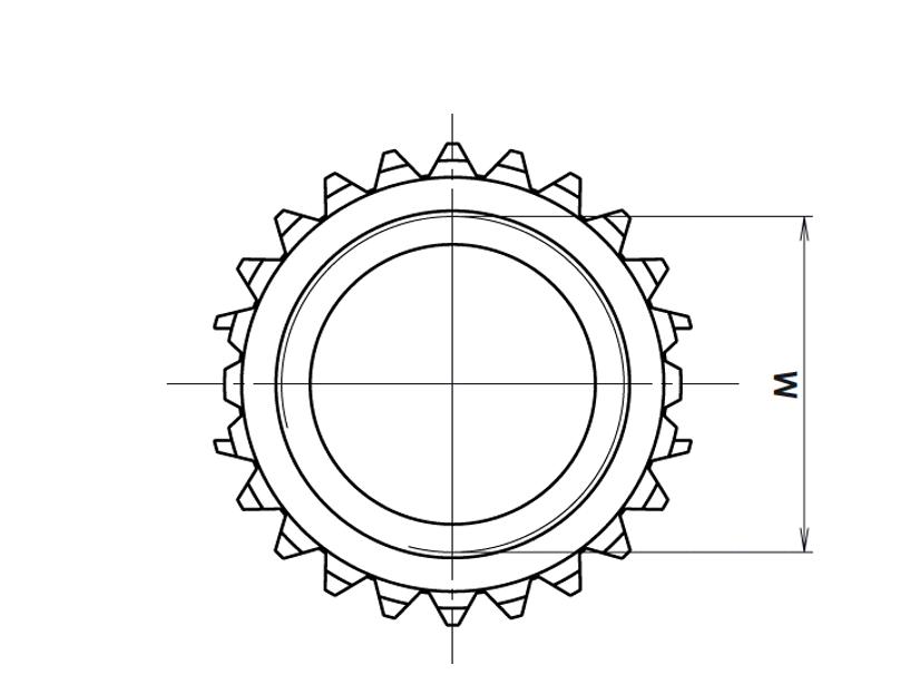 Type L : long avec deux couronnes d'ancrage
