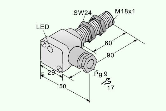 Dimensions of 5mm