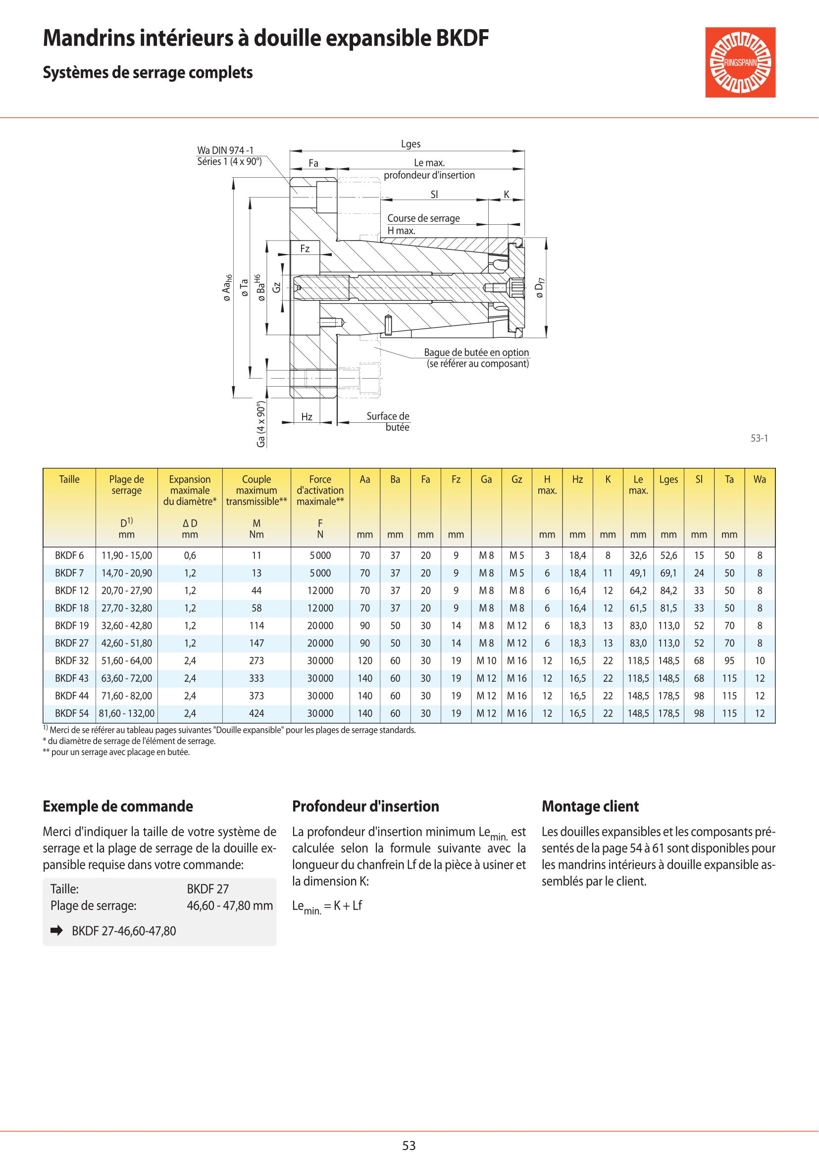 Fiche technique - BKDF 19 page 2