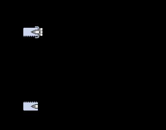 Dimensions : lock nut type HME