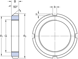 Dimensions : loc nut type N/AN (1)