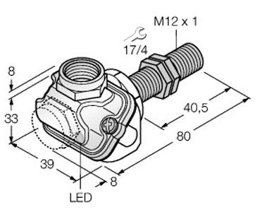 Dimensional drawing - M12_BI4U-EM12WDTC-AP6X