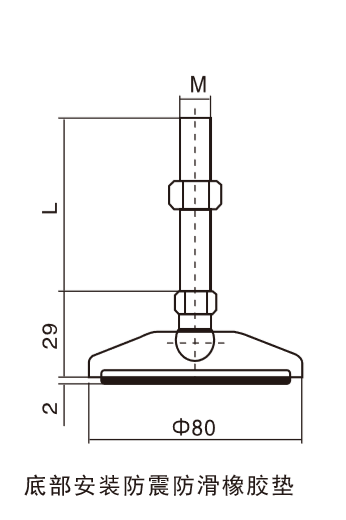 Technical drawing for feet